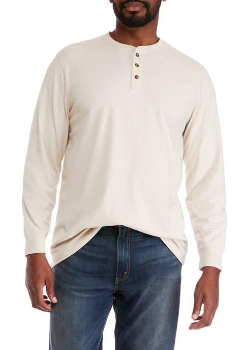 Big & Tall Jersey Henley Shirt