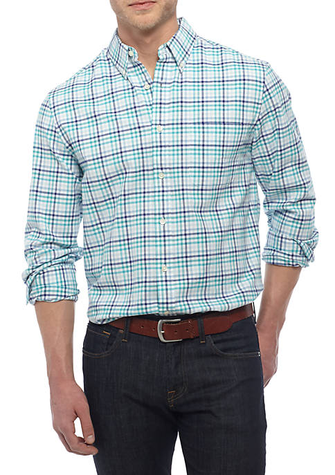 Saddlebred® Big & Tall Long Sleeve Oxford Classic