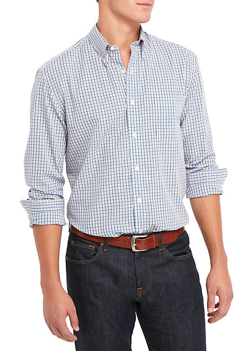 Saddlebred® Long Sleeve Woven Plaid Shirt