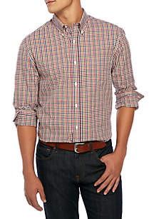 Big & Tall Long Sleeve Woven Plaid Shirt