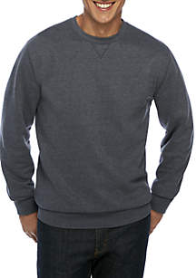 Big & Tall Ultra Soft Fleece Crew Pullover