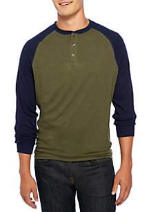 Big & Tall Long Sleeve Comfort Flex Stretch Raglan Sleeve Jersey Tee