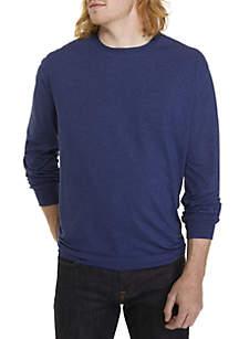 Big & Tall Long Sleeve Jersey Crew Neck Shirt