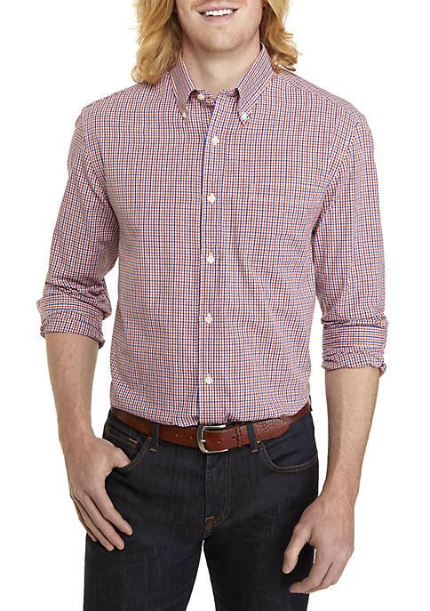 Big & Tall Woven Plaid Button Down Shirt