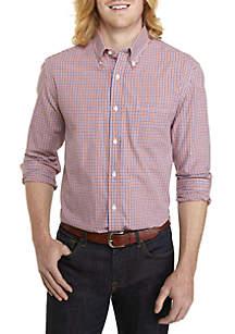 Saddlebred® Big & Tall Woven Plaid Button Down Shirt