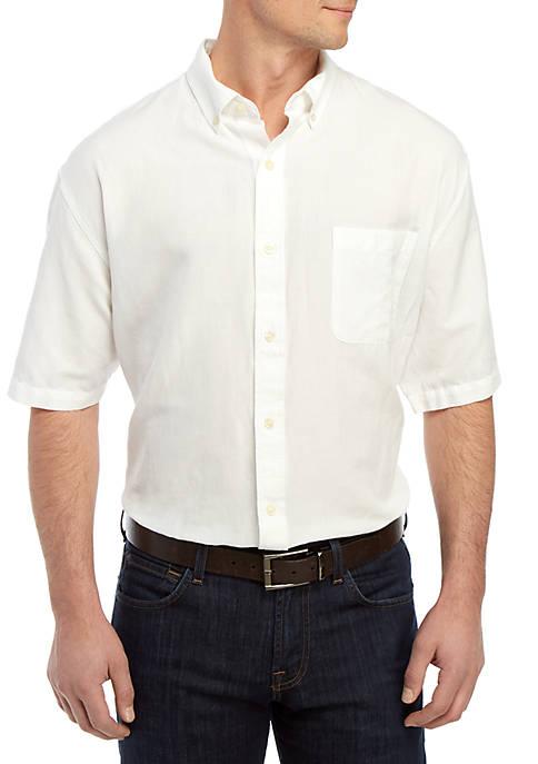 Big & Tall Short Sleeve Button Down Shirt