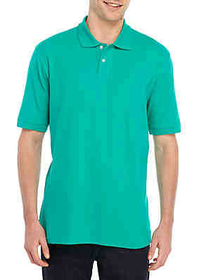 66379522 Saddlebred® Big & Tall Short Sleeve Solid PIque Polo Shirt ...