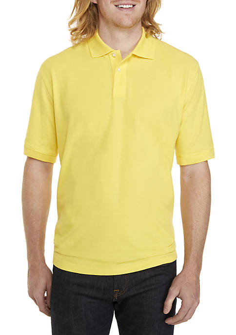Big & Tall Short Sleeve Solid PIque Polo Shirt