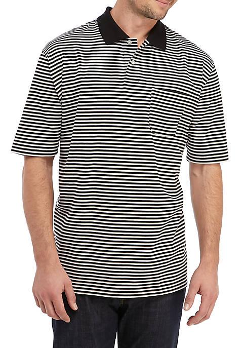 Saddlebred® Big & Tall Short Sleeve Striped Jersey
