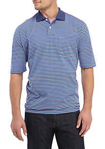 e73e22d43b4 ... Saddlebred® Big   Tall Short Sleeve Striped Jersey Polo Shirt
