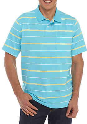 889d939a015 Saddlebred® Big   Tall Comfort Flex Short Sleeve Stripe Jersey Polo Shirt  ...
