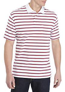 8fbb8541bae911 Saddlebred® Big   Tall Comfort Flex Short Sleeve Stripe Jersey Polo Shirt