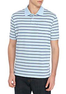 a3a23677c ... Saddlebred® Big   Tall Comfort Flex Short Sleeve Stripe Jersey Polo  Shirt