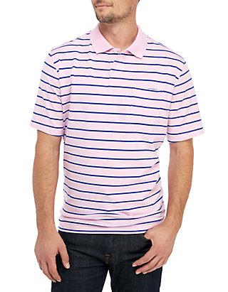 e37706d19537d9 Saddlebred® Big   Tall Comfort Flex Short Sleeve Stripe Jersey Polo Shirt