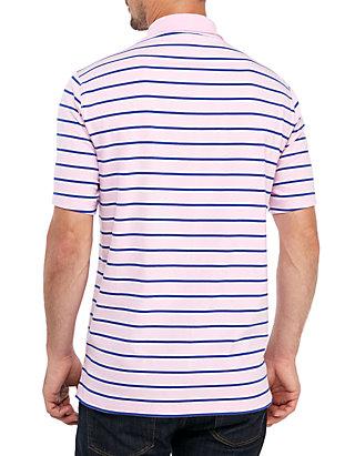 36ebc73df38e33 ... Saddlebred® Big   Tall Comfort Flex Short Sleeve Stripe Jersey Polo  Shirt