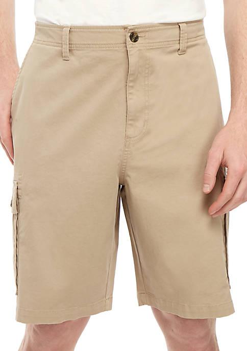 Big & Tall Twill Cargo Shorts