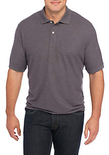 Big & Tall Short Sleeve Solid Comfort Flex Stretch Pique Polo