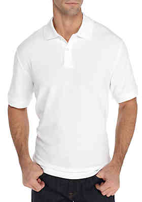 6d0852481 Saddlebred® Big & Tall Short Sleeve Solid Comfort Flex Polo ...