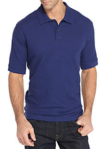 Saddlebred® Big & Tall Short Sleeve Solid Comfort Flex Polo