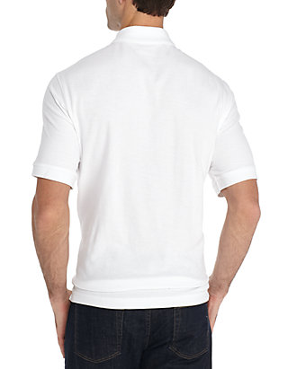 0190535ef05d8a Saddlebred® Big   Tall Short Sleeve Solid Comfort Flex Polo