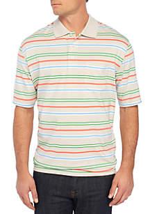 Big & Tall Short Sleeve Stripe Jersey Polo