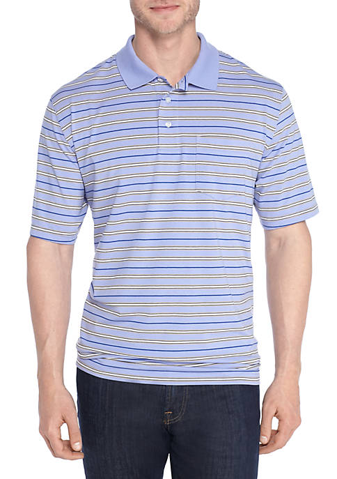 Saddlebred® Big & Tall Short Sleeve Stripe Comfort