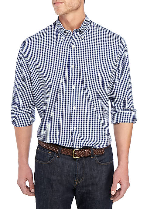 Big & Tall Plaid Long Sleeve Tall Fit Shirt