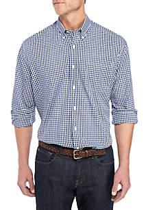 Saddlebred® Big & Tall Plaid Long Sleeve Tall Fit Shirt
