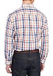Big & Tall Long Sleeve Classic Fit Plaid Shirt