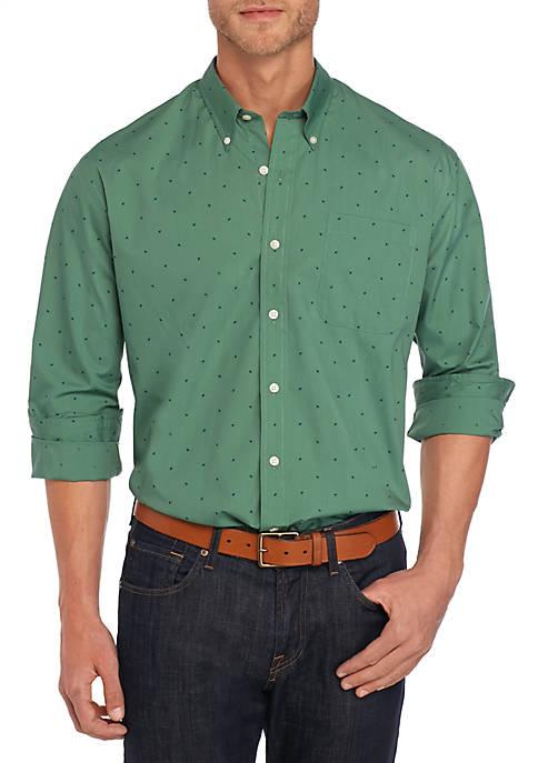 Big & Tall Long Sleeve Button Down Print Shirt