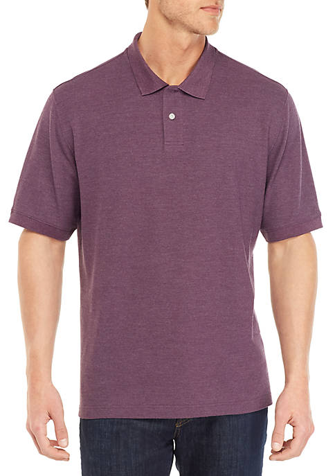 Big & Tall Solid Short Sleeve Pique Polo