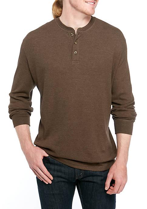 Big & Tall Long Sleeve Henley Thermal Shirt