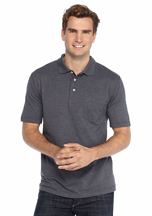 Short Sleeve Solid Jersey Polo Shirt