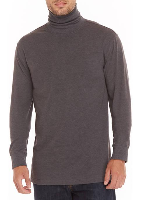 Mens Long Sleeve Jersey Turtleneck Shirt