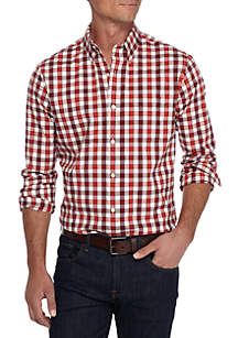 Long Sleeve Tailored Stretch Oxford Shirt
