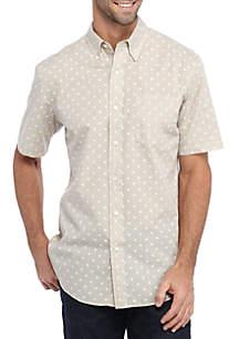 Short Sleeve Printed Sport Shirt