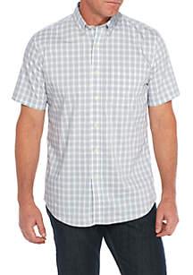 Short Sleeve Wrinkle Free Woven Shirt