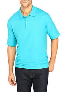 Short Sleeve Solid Comfort Flex Stretch Pique Polo