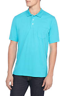 Short Sleeve Solid Comfort Flex Stretch Jersey Polo