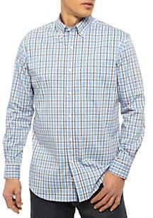 Wrinkle-Free Stretch Plaid Shirt