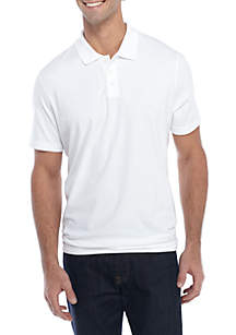 Short Sleeve Comfort Flex Tailored Fit Jersey Polo