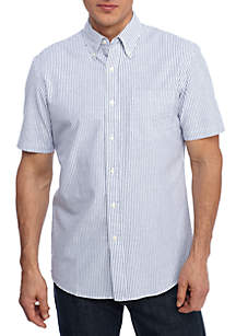 Short Sleeve Comfort Flex Stretch Classic Fit Oxford Shirt