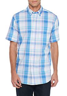 Saddlebred® Short Sleeve Wrinkle Free Comfort Flex Stretch Tailored Fit Shirt