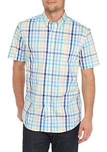 Short Sleeve Wrinkle Free Comfort Flex Stretch Tailored Fit Shirt