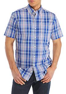 Short Sleeve Wrinkle Free Comfort Flex Stretch Classic Fit Shirt