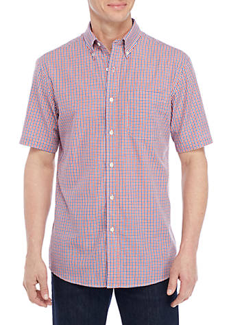 Saddlebred® Short Sleeve Small Plaid Button Down Shirt Clearance For Cheap Free Shipping How Much Popular Cheap Online Outlet In China Outlet Browse QdacKSpHi