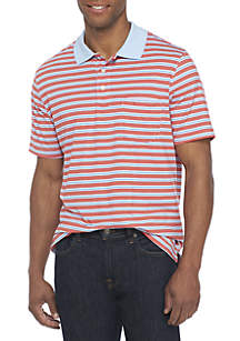Short Sleeve Feed Stripe Jersey Polo