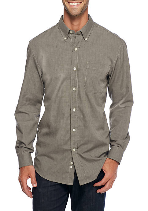 Long Sleeve Solid Button Down Shirt