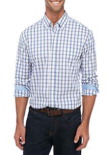 Long Sleeve Plaid Button Down Shirt