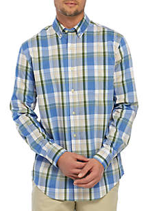 Saddlebred® Long Sleeve Plaid Button Down Shirt